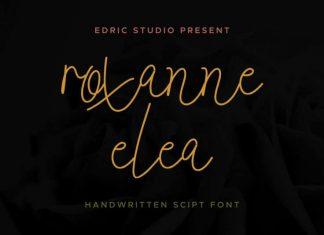 Roxanne Elea Handwritten Font