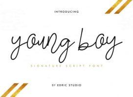 Young Boy Signature Font