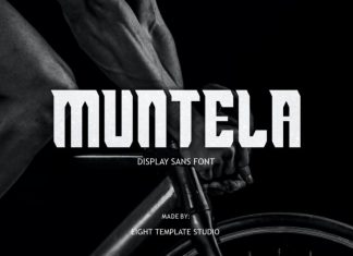 Muntela Display Font