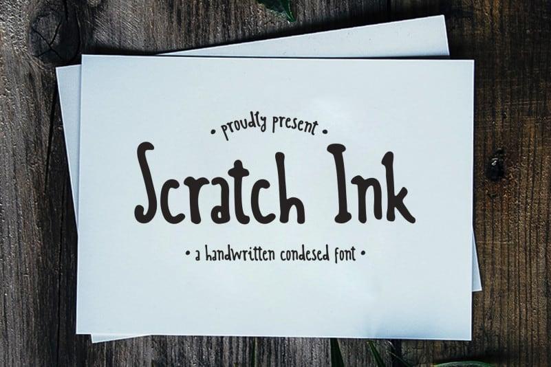 Scratch Ink Handwritten Font