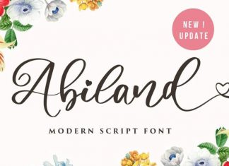 Abiland Calligraphy Font