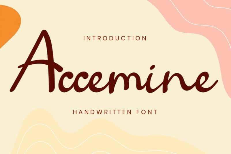 Accemine Script Font