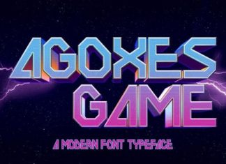 Agoxes Game Display Font