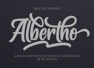 Albertho Script Font