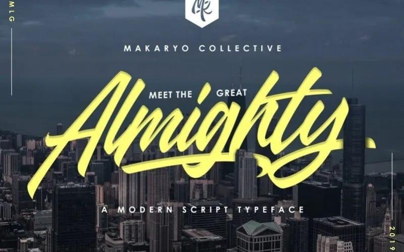 Almighty Script Font