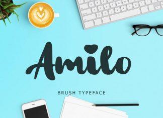 Amilo Bold Script Font