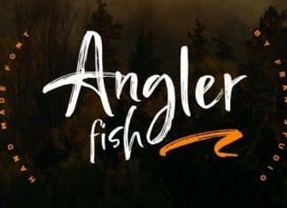 Angler Fish Brush Font
