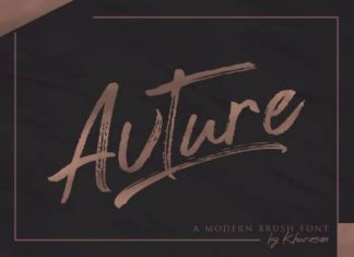 Avture Brush Font