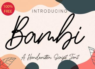 Bambi Handwritten Font