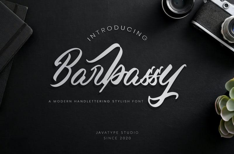 Barbassy Script Font