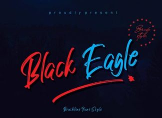 Black Eagle Brush Font