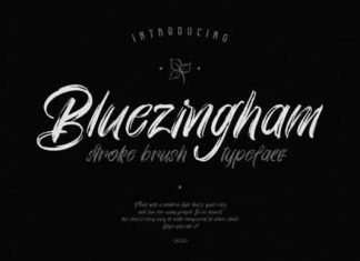 Bluezingham Brush Font