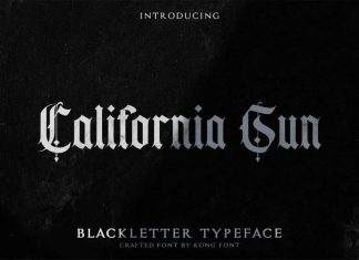 California sun Blackletter Font