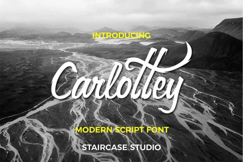Carlottey Calligraphy Font