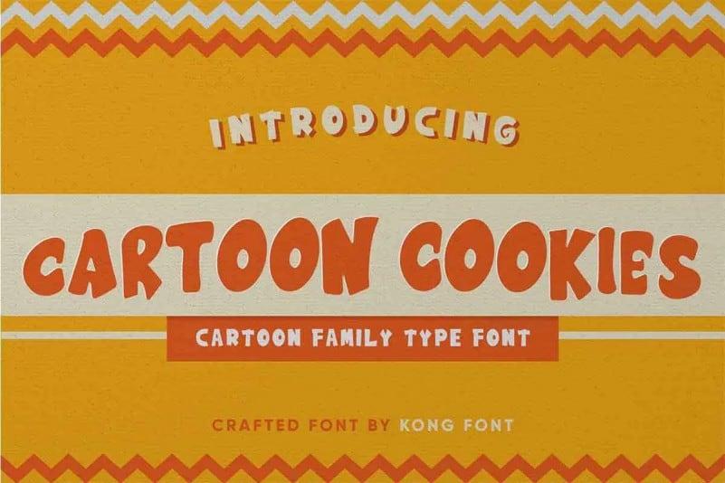 Cartoon Cookies Display Font