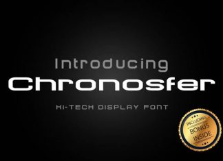 Chronosfer Display Font