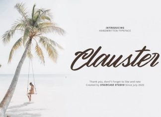 Clauster Brush Font