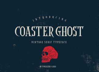 Coaster Ghost Vintage Font