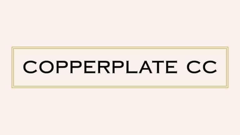 Copperplate CC Serif Font