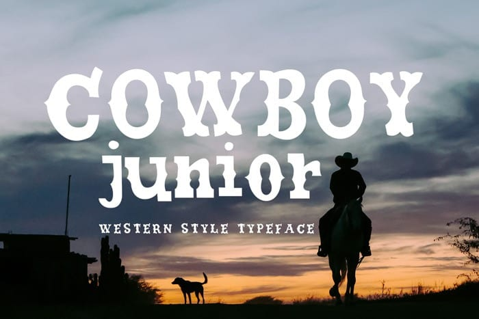 Cowboy Junior Display Font