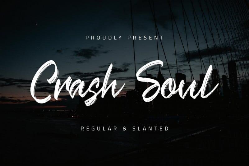 Crash Soul Brush Font