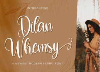 Dilan Whemsy Calligraphy Font