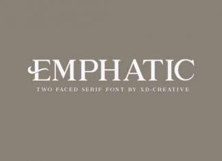 Emphatic Serif Font