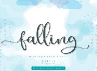 Falling Calligraphy Font