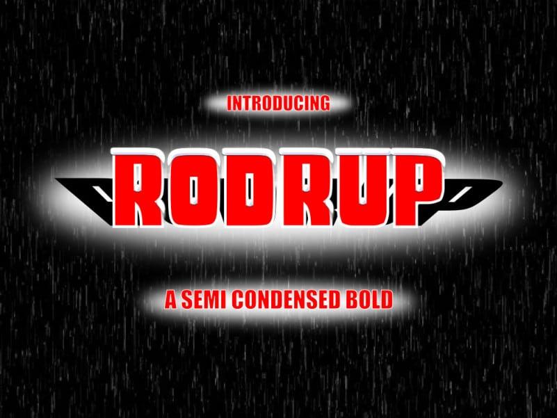 Rodrup Display Font