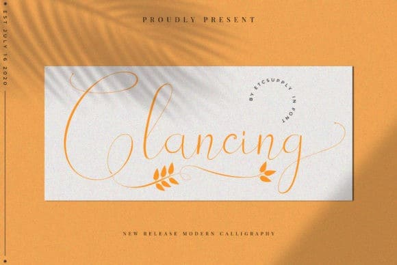 Glancing Calligraphy Font