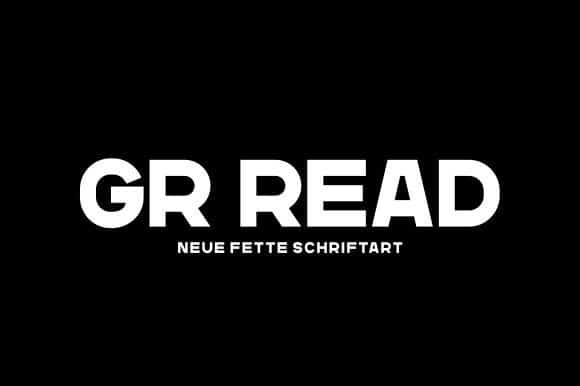 GR Read One Sans Serif Font