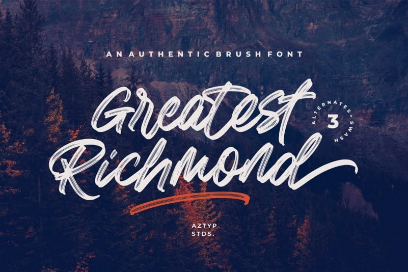 Greatest Richmond Brush Font