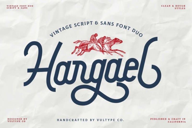 Hargael Display Font