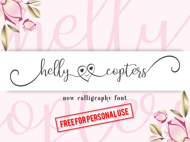 Helly Copters Calligraphy Font