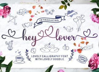 Hey Lover Calligraphy Font