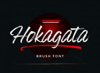 Hokagata Brush Font