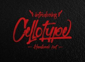 Cellotype Brush Font