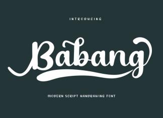 Babang Calligraphy Font