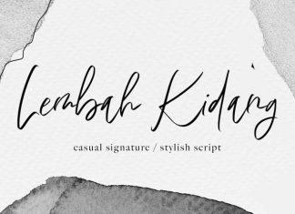 Lembah Kidang Handwritten Font