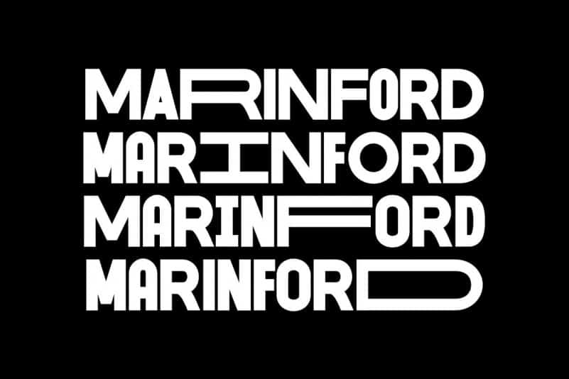 Marinford Display Font