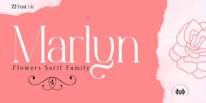 Marlyn Serif Font