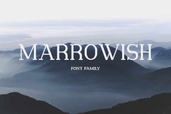 Marrowish Slab Serif Font