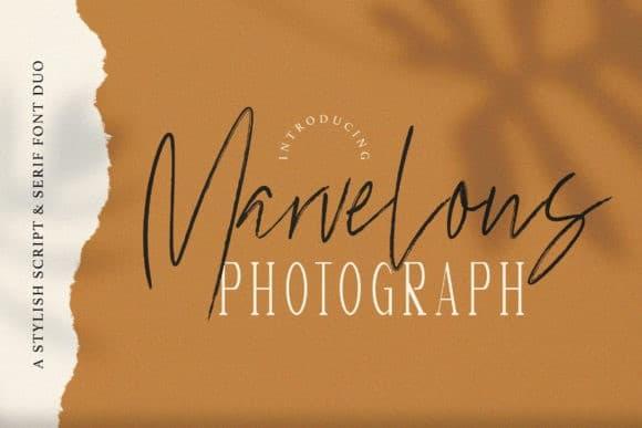 Marvelous Photograph Script Font Duo