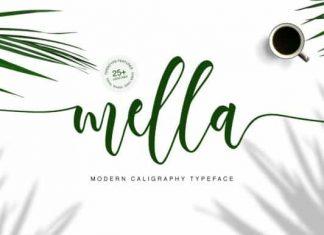 Mella Calligraphy Font