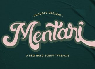 Mentari Bold Script Font