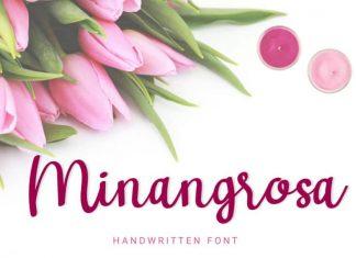 Minangrosa Handwritten Font