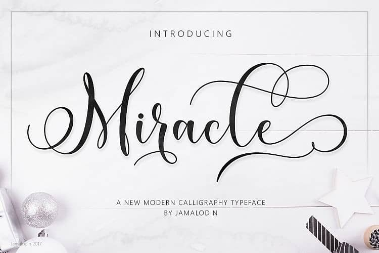 Miracle Calligraphy Font
