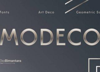 Modeco Trial Sans Serif Font