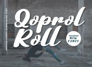 Qoprol Roll Script Font