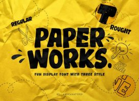 Paper Works Display Font